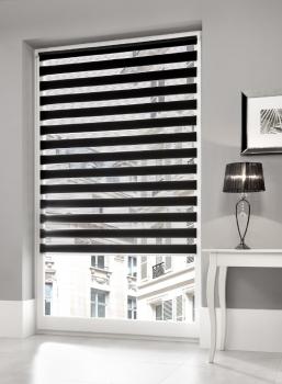 rollo mit seilf hrung nach ma verschiedene farben. Black Bedroom Furniture Sets. Home Design Ideas