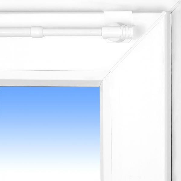 gardinenstange fix klick weiss f r oben und seitlich am fenster 110 150cm ebay. Black Bedroom Furniture Sets. Home Design Ideas